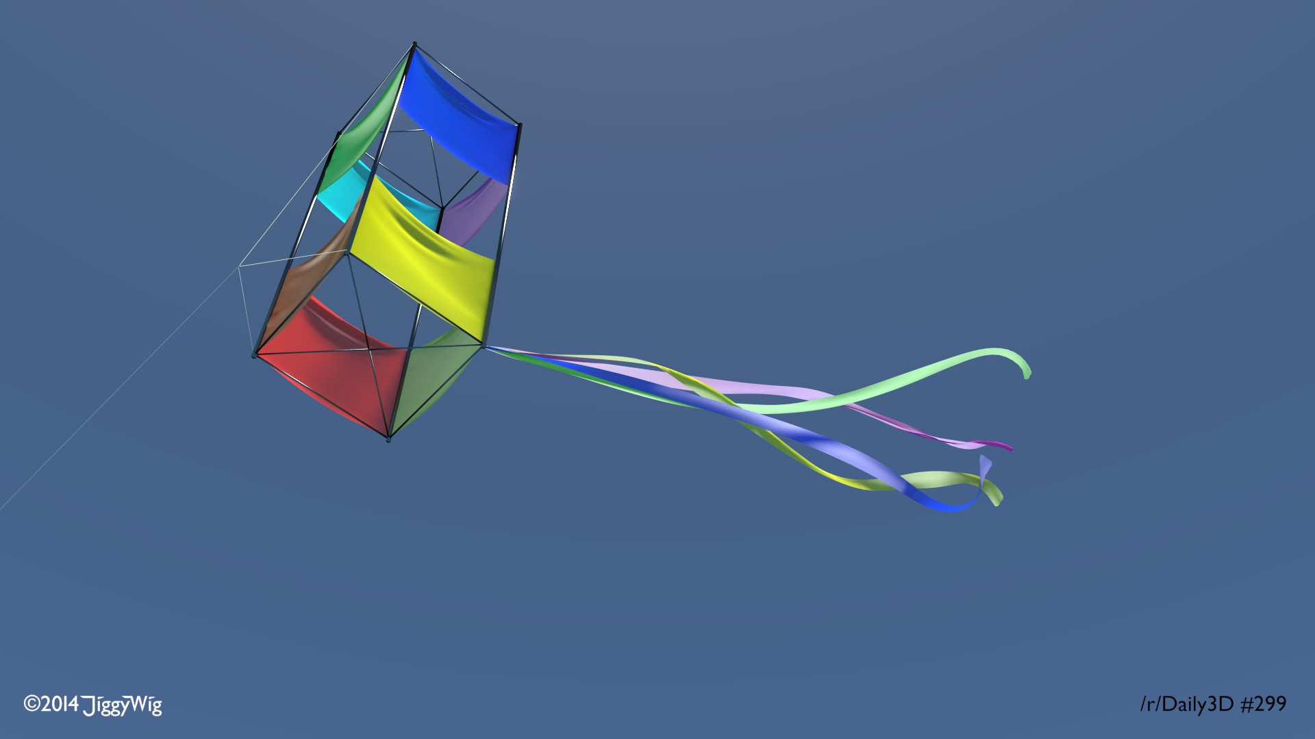#299 - Colourful Box kite!