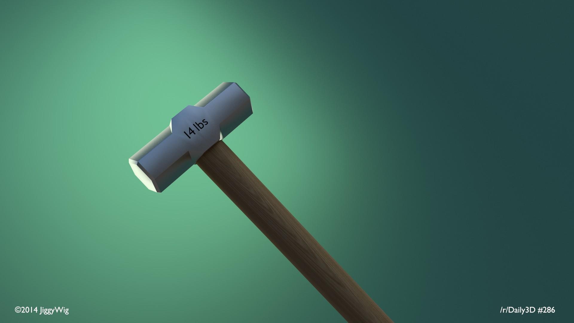 #284 - A big hammer. Nice green.