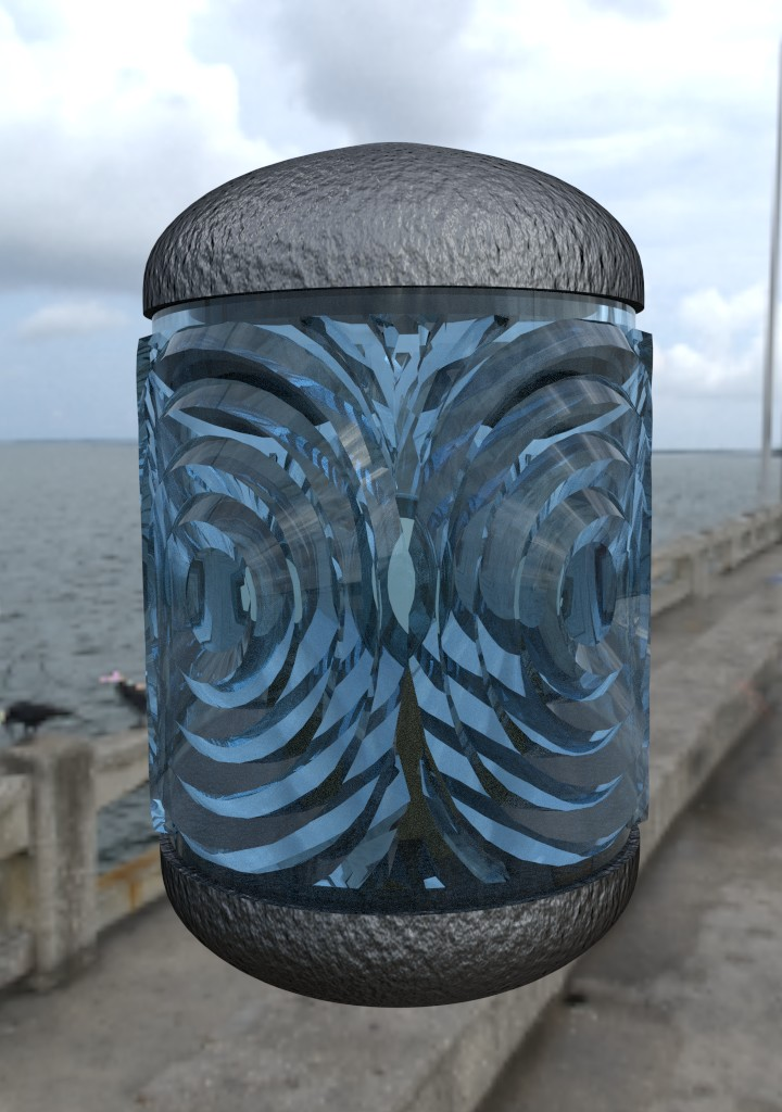 Fresnel Lens Test Render