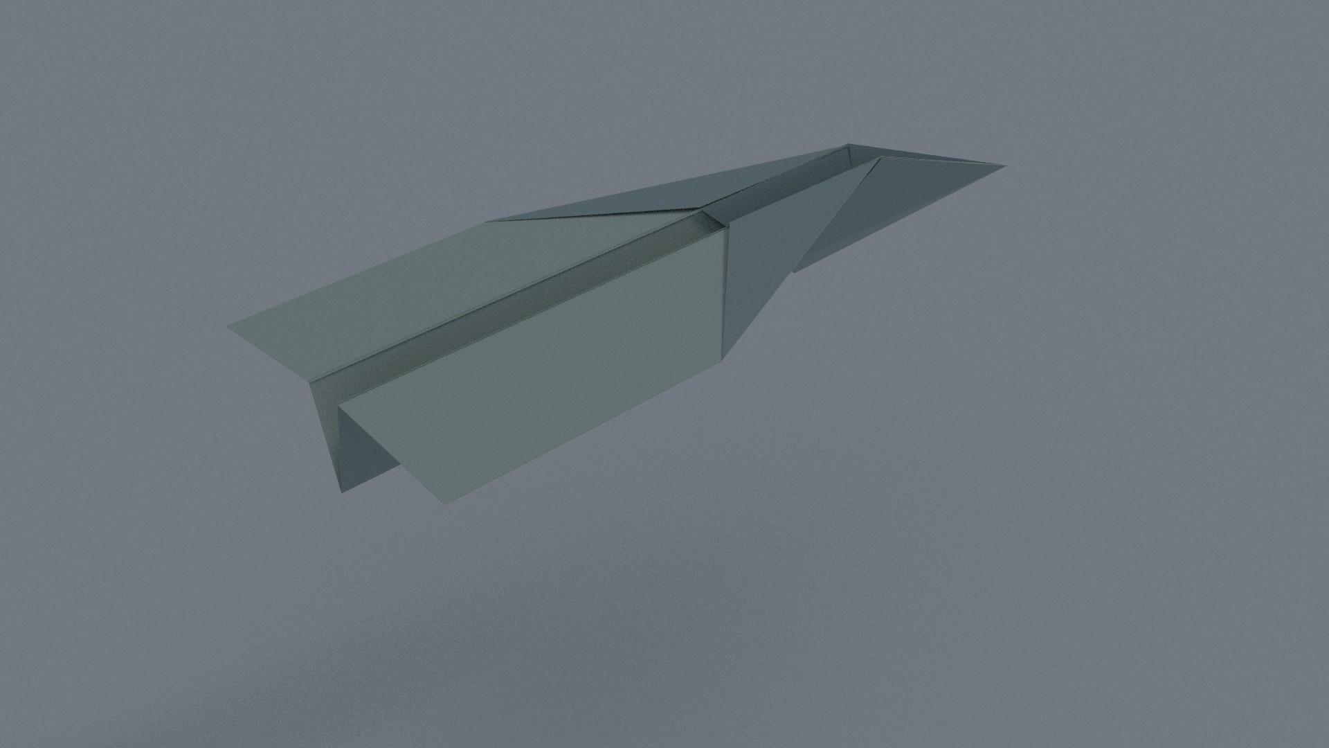 #285 - Animated Paper Plane Folding.