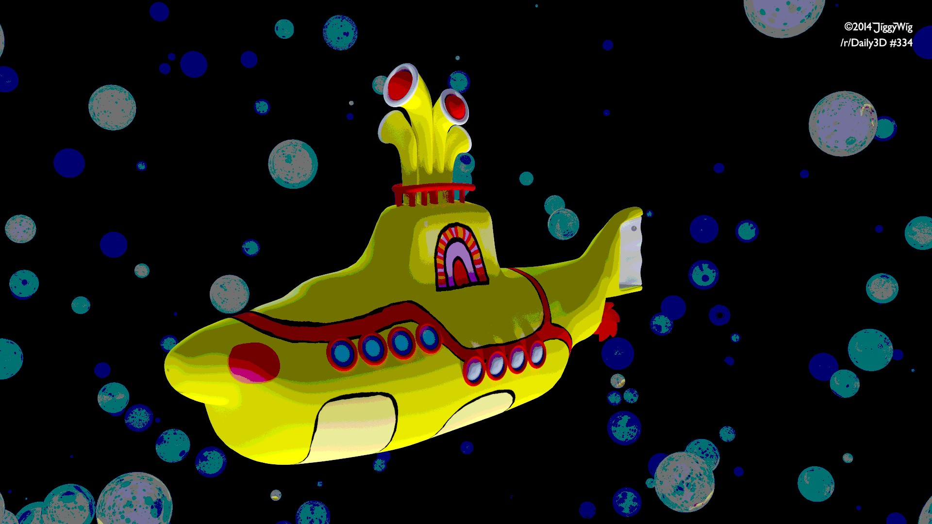 #334 Yellow Submarine (8-Bit Effect)