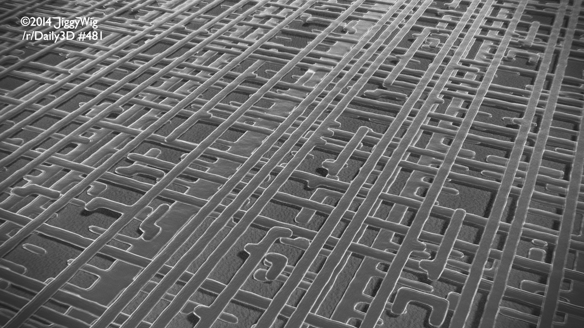 #481 Computer Chip, but in monochrome
