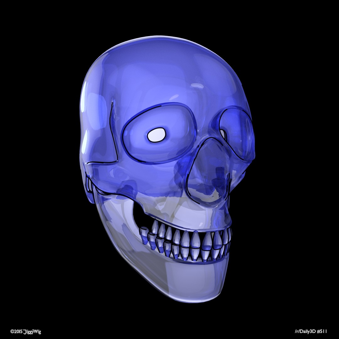 #511 Stylised Skull
