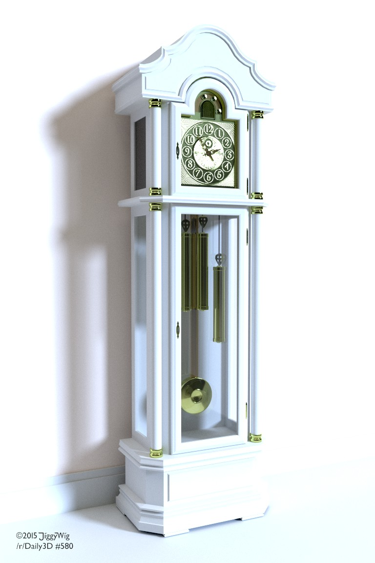 #580 Grandfather Clock