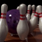 #603 Bowling Ball & Pins