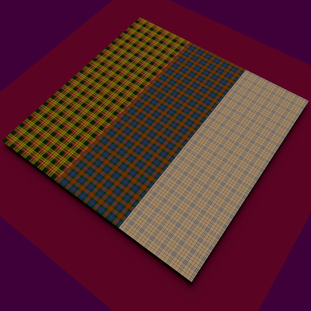 Checking the 'ol procedural Tartan shader is still working.